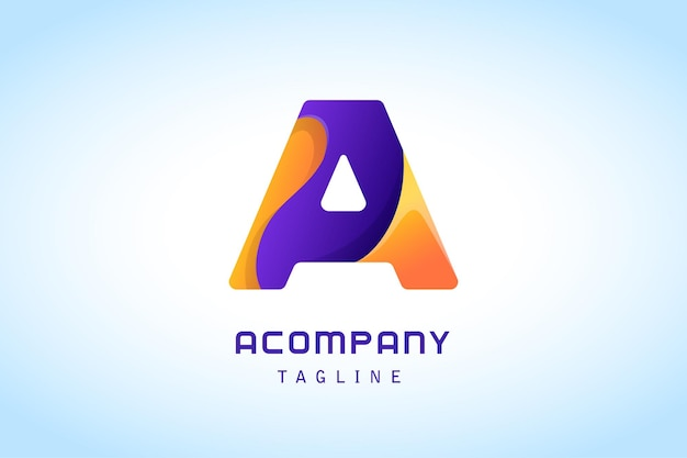 Pomarańczowo-fioletowa litera gradientowe logo dla firmy