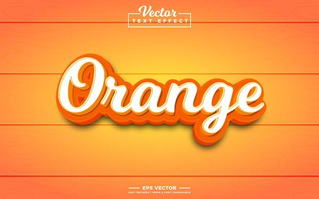 Pomarańczowy 3d edytowalny efekt tekstowy