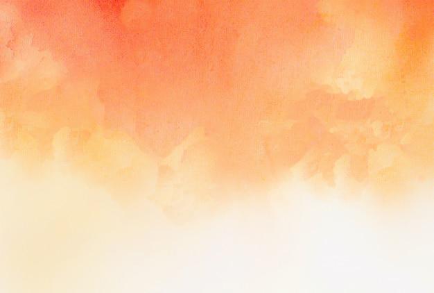 Pomarańczowy akwarela tekstury tło
