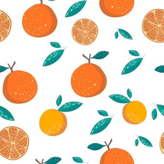 Pomarańczowy bezszwowy wzór