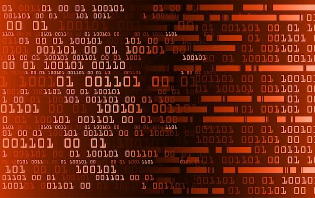 Pomarańczowy binarny cyber obwodu przyszłości technologii pojęcie