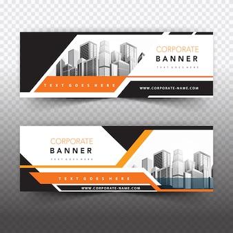 Pomarańczowy biznes baner