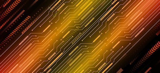 Pomarańczowy cyber obwodu przyszłości technologii koncepcja tło