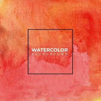 Pomarańczowy czerwony ręcznie malowane akwarela streszczenie tło akwarela,