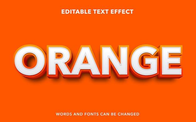Pomarańczowy edytowalny efekt tekstowy