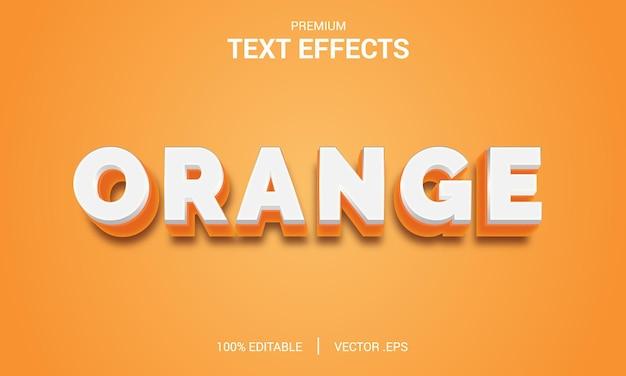 Pomarańczowy efekt tekstowy projekt illustrator efekt stylu warstwy wektorowej