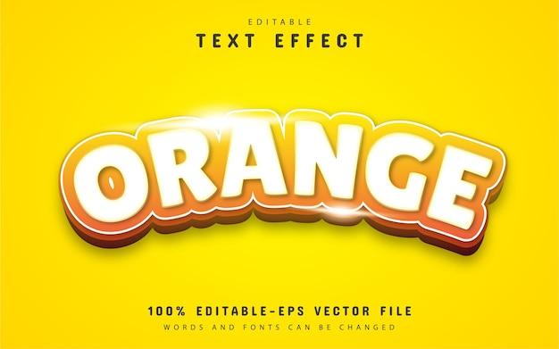 Pomarańczowy efekt tekstowy
