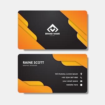 Pomarańczowy elegancki szablon karty firmowej