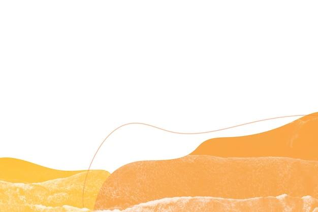 Pomarańczowy i żółty abstrakcyjny wzór tła memphis