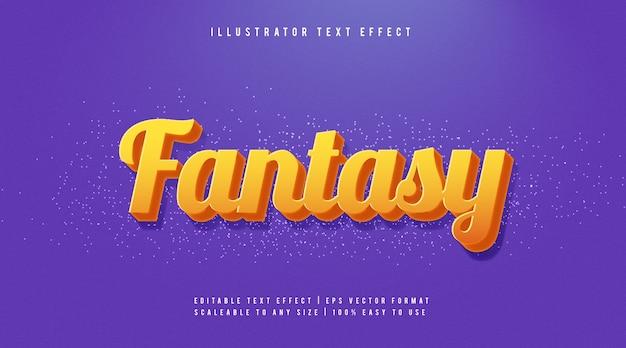 Pomarańczowy jasny efekt czcionki stylu tekstu fantasy