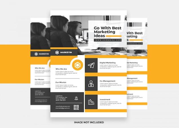 Pomarańczowy koncepcja marketing marketingowa prezentacja kolorowa nowoczesna kreatywna firma ulotka korporacyjna