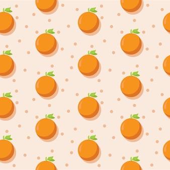 Pomarańczowy kwadratowy bezszwowy wzór z pastelowym koloru tematu tłem