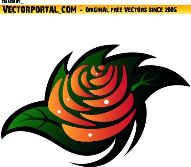 Pomarańczowy kwiat clipart