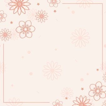 Pomarańczowy kwiat wzór