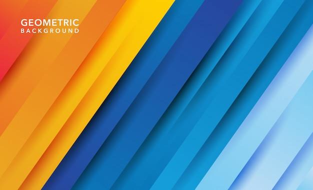 Pomarańczowy niebieski nowoczesny streszczenie tło geometryczne