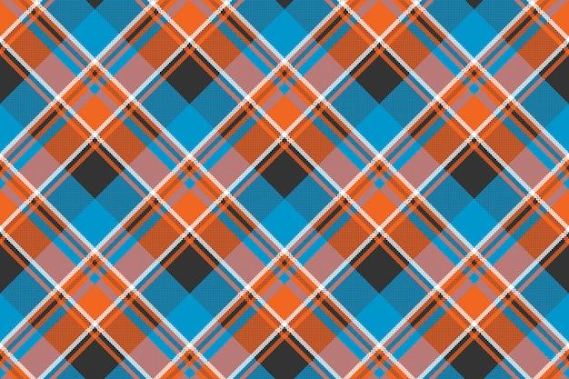 Pomarańczowy niebieski tkanina tekstura wzór