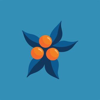 Pomarańczowy owoc symbol media społecznościowe post zdrowej żywności ilustracja wektorowa