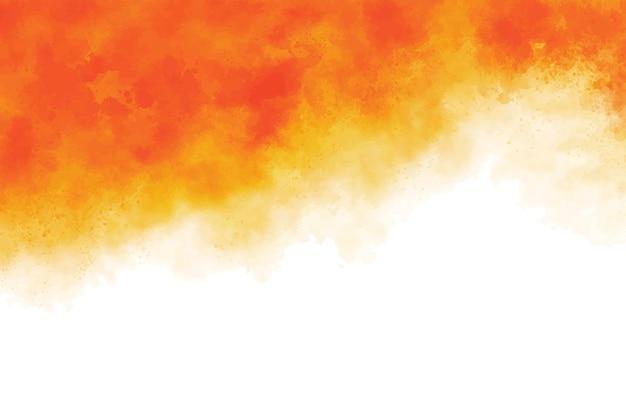Pomarańczowy pędzel akwarela tekstury