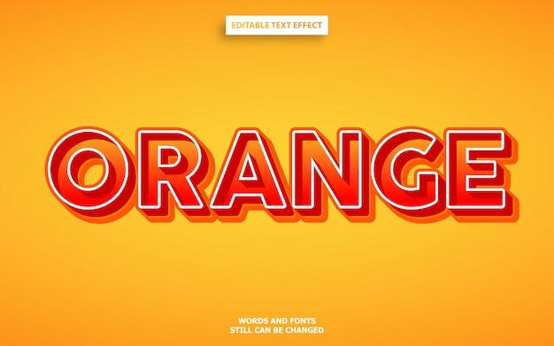 Pomarańczowy pogrubiony nowoczesny efekt czcionki