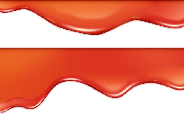 Pomarańczowy przepływający wzór tła glazury