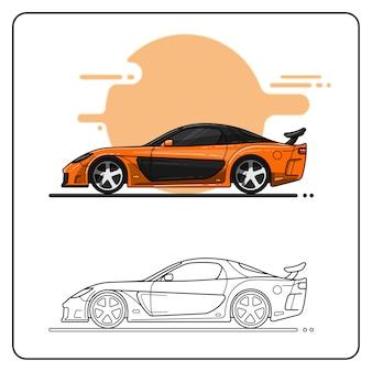 Pomarańczowy samochód uliczny