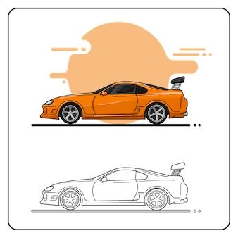 Pomarańczowy samochód