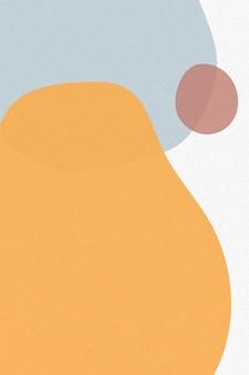 Pomarańczowy ton prosty wektor tła memphis