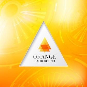 Pomarańczowy trójkąt streszczenie tło.