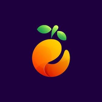 Pomarańczowy zakrzywiony