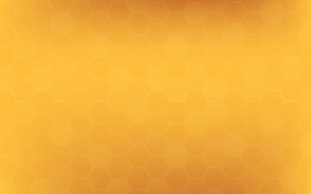 Pomarańczowy żółty plaster miodu abstrakcyjne tło.