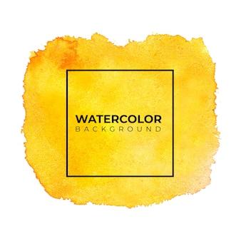 Pomarańczowy żółty tekstura tło akwarela.