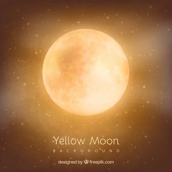 Pomarańczowym tle księżyca