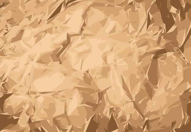 Pomarszczony papier pakowy, opakowanie, owijka. naturalne brązowe tło vintage papieru.
