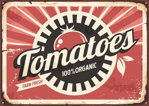 Pomidory retro znak