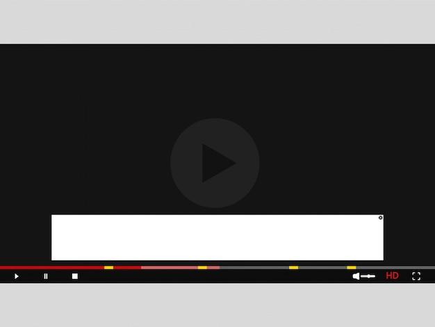 Pomiń reklamy w wideo. reklama na szablonie wideo.