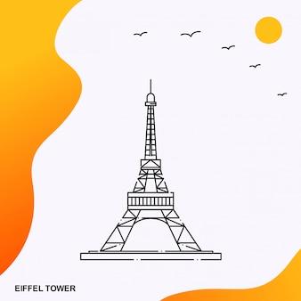 Pomnik eiffela towera we francji