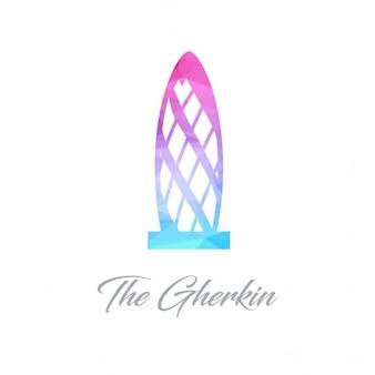 Pomnik streszczenie logo dla ogórek wykonane z trójkątów