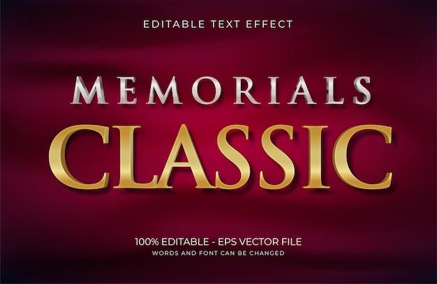Pomniki klasyczny efekt tekstowy premium wektorów