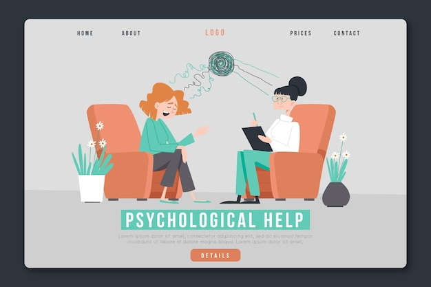 Pomoc psychologiczna - landing page