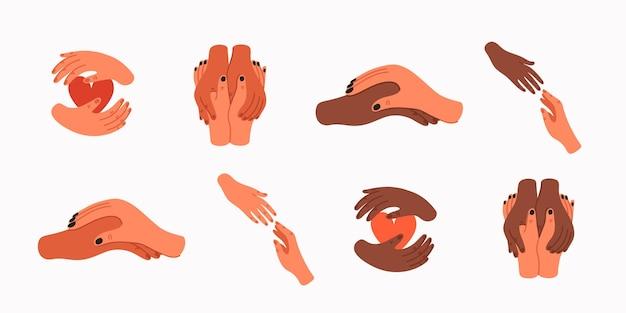 Pomocna dłoń opieka psychologiczna koncepcja empatii i współczucia