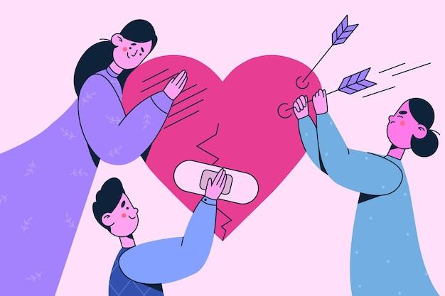 Pomocna dłoń, wsparcie, koncepcja wolontariatu