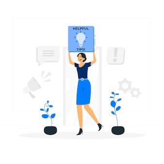 Pomocna ilustracja koncepcja znak