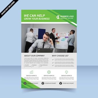 Pomożemy rozwinąć twój biznes projekt szablonu ulotki