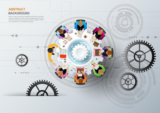 Pomysł i biznes koncepcja pracy zespołowej