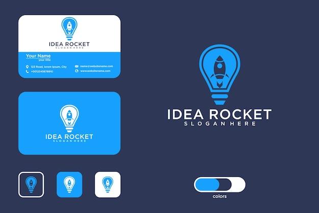 Pomysł na rakietę projekt logo i wizytówka