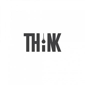 Pomyśl o logo żarówki