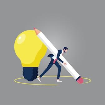 Pomyśl poza koncepcją pudełka, pomyśl inaczej, kreatywny pomysł na rozwiązanie