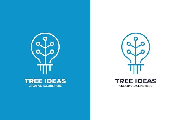 Pomysł technologia żarówka logo firmy