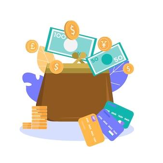 Pomyślny metafora przechowywania pieniędzy transparent