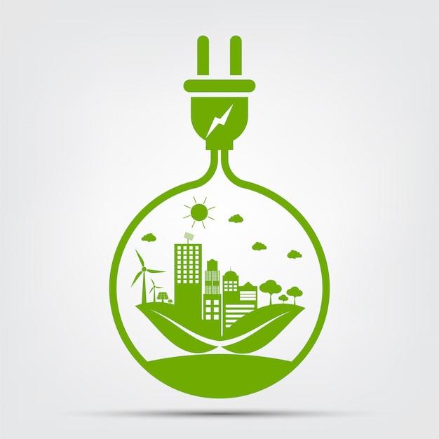 Pomysły energetyczne ocalić koncepcję świata wtyczka zielona ekologia ekologiczna